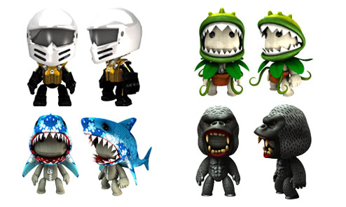 These cute costumes for LittleBigPlanet will be hitting the US Playstation Network this Thursday! I donu0027t care much for the Motorstorm helmet or Shark but ...  sc 1 st  Being BigMacky - WordPress.com & LittleBigPlanet: New Costumes | Being BigMacky